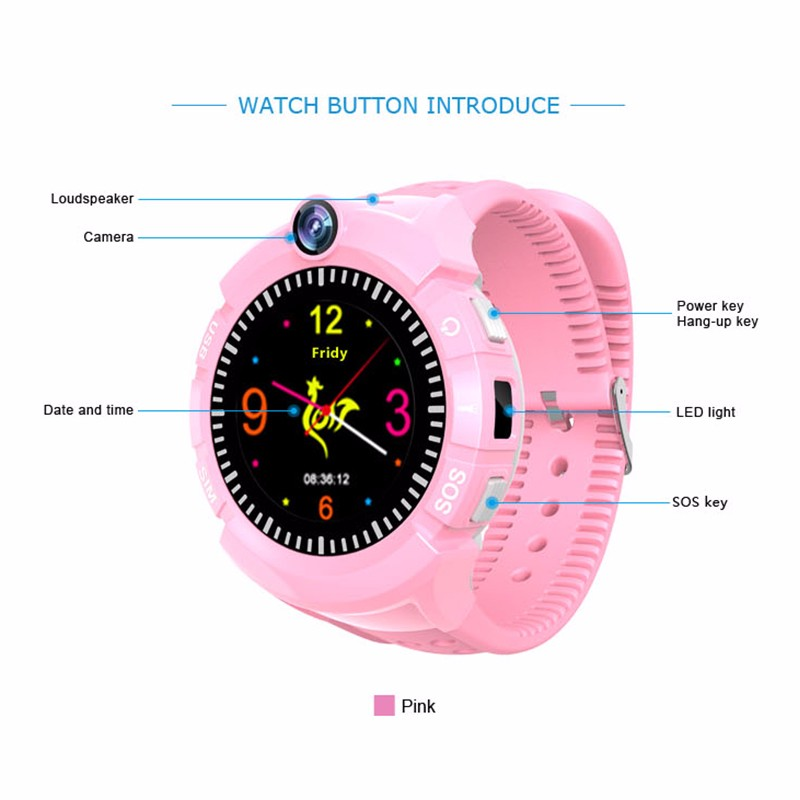 Hf2019628746a47239a656c3d093f7882Y - New Smart watch Kid SmartWatches GPS Baby Watch for Children SOS Call Location Finder Locator Tracker Anti Lost Monitor