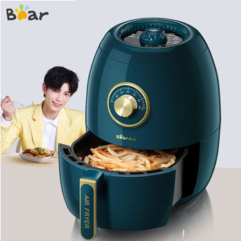 Bear 3L Air Fryer 1350W Electric Deep Fryers Oil Free Health Fryer Adjustable Timing Cake French Fries Cooker A19A 1