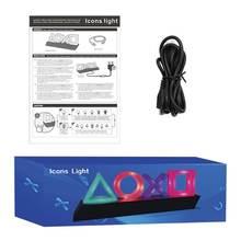 1 комплект красочный игровой значок лампы Звук Управление знак