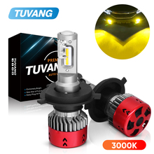 2x 3000k Gold Car Led Headlight Light CSP Chip H1 H4 Hi/Low 9003 HB2 H7 H8 H11 9005 HB3 9006 HB4 Auto Fog LED Bulb 9600LM 72W