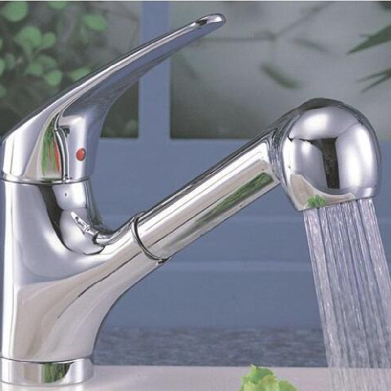 Home Kitchen Faucet Spray Sink Chrome Sprayer Shower Pull Out Replacement Head Home Accessories