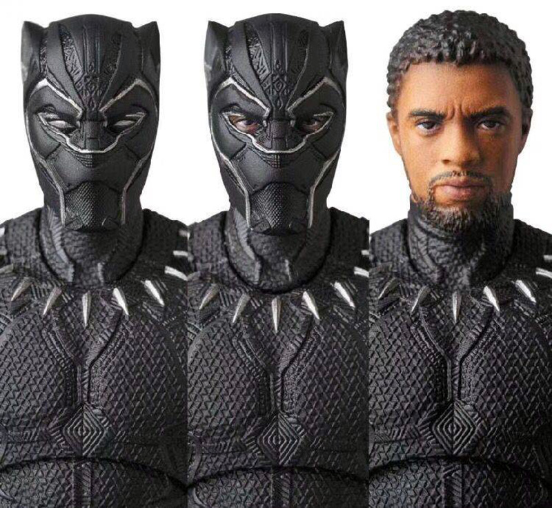 Chadwick Boseman Black Panther Cartoon Toy Action Figure Model Highly Detailed