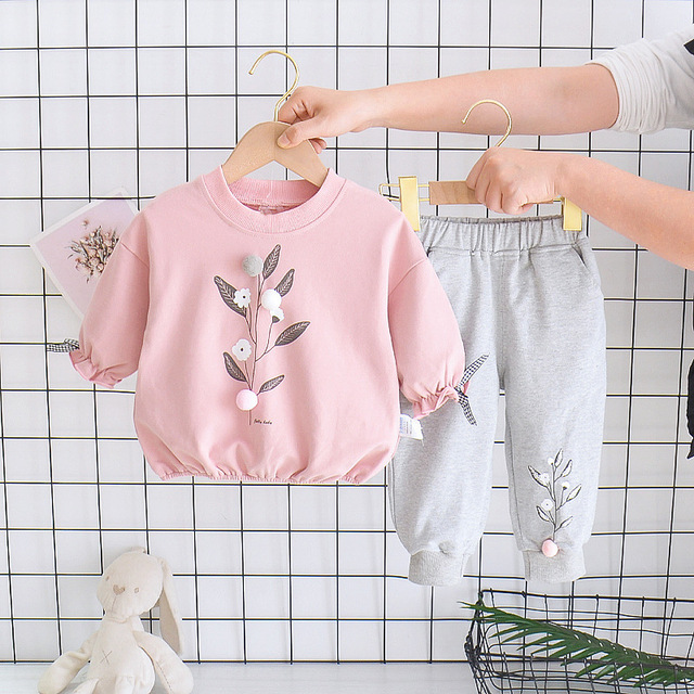Children Clothing 2020 Autumn Winter Toddler Girls Clothes 2pcs Outfits Kids Sport Suits For Girls Clothing Sets 1 2 3 4 5 Year