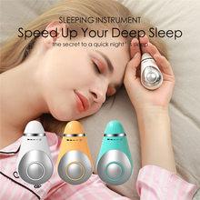 Dispositif d'aide au sommeil à microcourant de charge USB tenant la main Instrument de soulagement de la pression Instrument d'hypnose de sommeil rapide Relax masseur