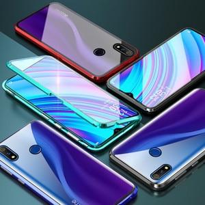Image 5 - 磁気吸着ケース Realme ため X2 プロ両面強化ガラスフル保護ケース Realme X ライト Q X2 高級電話ケース