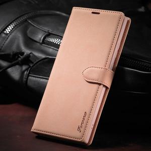Image 1 - جراب هاتف جلدي مع رفرف ، حافظة فاخرة لهاتف Samsung Galaxy S8 S9 S10 S20 Plus S10E Note 20 Ultra Note 10 Note 9