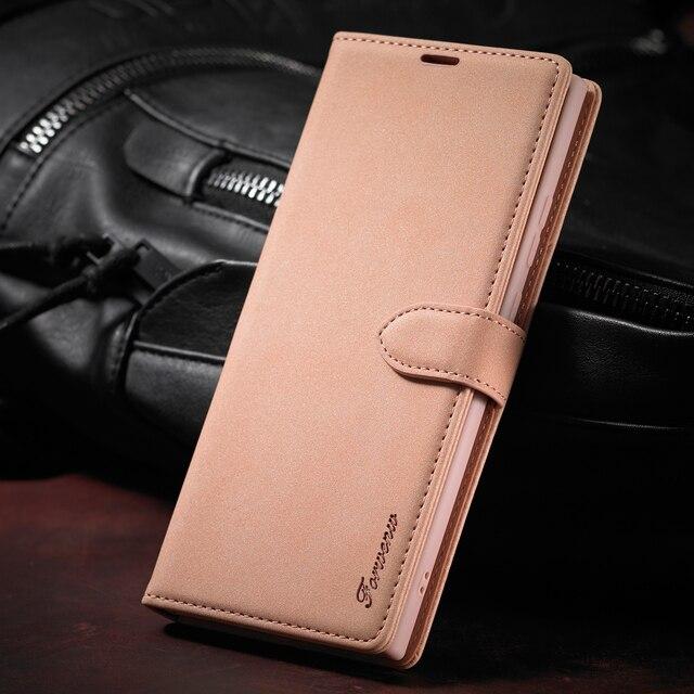 جراب هاتف جلدي مع رفرف ، حافظة فاخرة لهاتف Samsung Galaxy S8 S9 S10 S20 Plus S10E Note 20 Ultra Note 10 Note 9