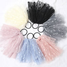 Lace Elastic Chiffon Bow Hair Ring Rubber Women Headband Ribbon Bands Korea Chic Solid Color Sweet Hair Accessories Headdress(China)