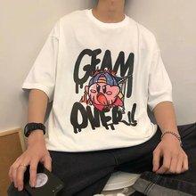 Harajuku футболка с короткими рукавами и принтом женские топы