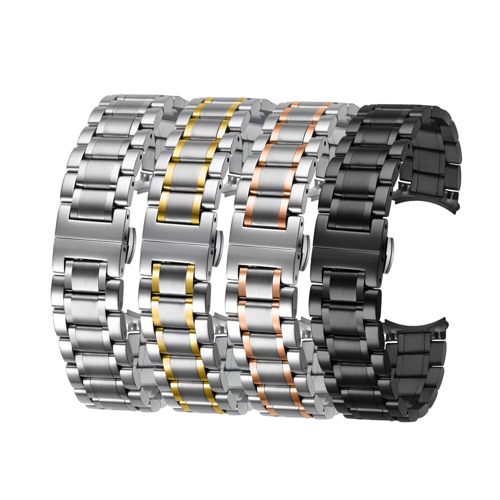 OTMENG Universal Stainless Steel Watchband 18mm 20mm 22mm 24mm Bracelet Women/Men's Wrist Strap Suitable For Various Brand Watch