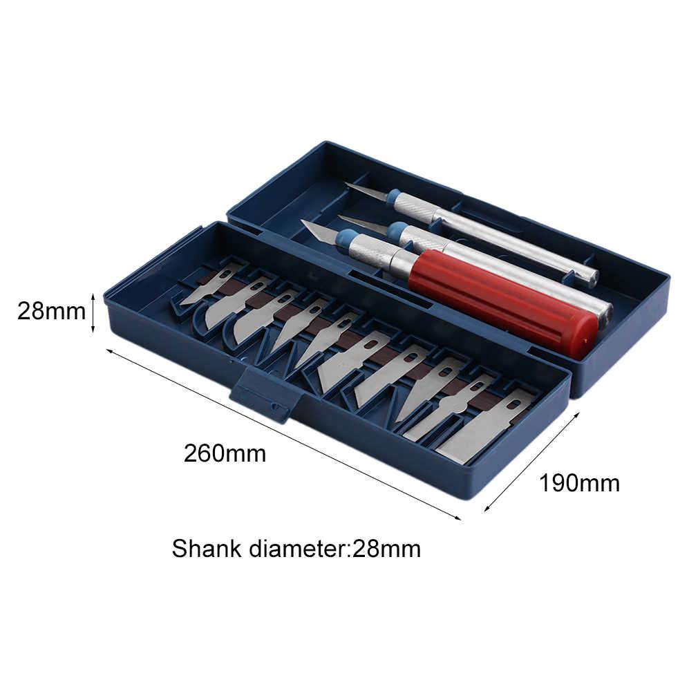 13 pçs utilitário conjunto de faca de precisão diy ferramentas de escultura de papel lâminas de aço de alto carbono com alça caso artes artesanato