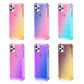 Luxury Shockproof Gradient Soft Phone Case Coque For Apple iPhone 11 Pro XS Max X XR 8 7 6 6S Plus Clear Cover For iPhone11 Case 1