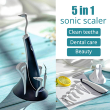 Portable Electric Sonic Ultrasonic Dental Scaler Tooth Cleaner High Frequency Vibration Stain Remover Whitening Scaler Universal