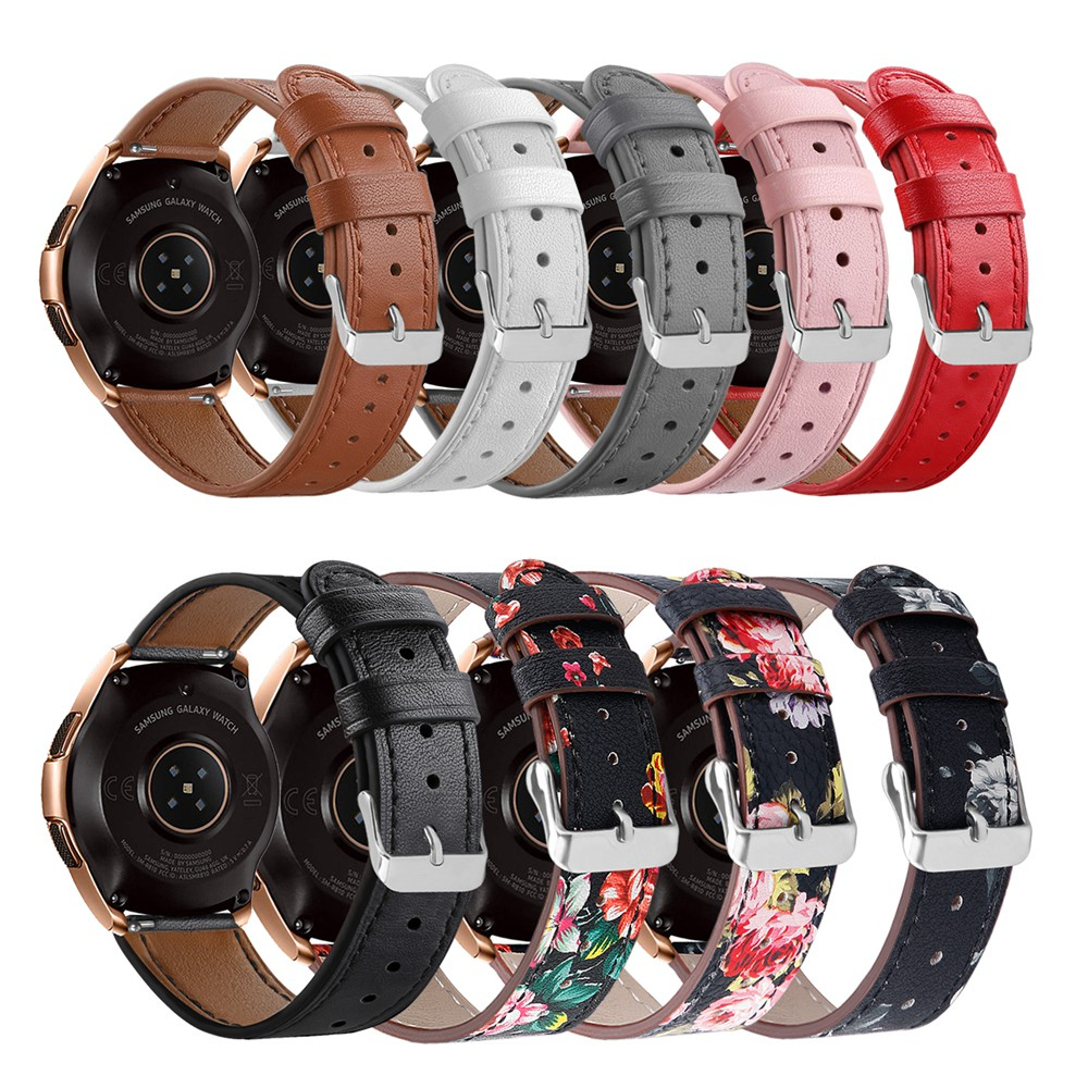 Heang Genuine Leather Replacement Watch Band Wrist Strap For Samsung Galaxy Watch (42mm)/Galaxy Active 40mm/Gear Sport