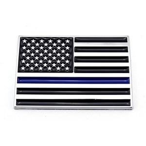 3D синяя линия красная линия американский флаг Полиция Пожарные эмблема значок Логотип Наклейка для автомобиля Грузовик Авто велосипед