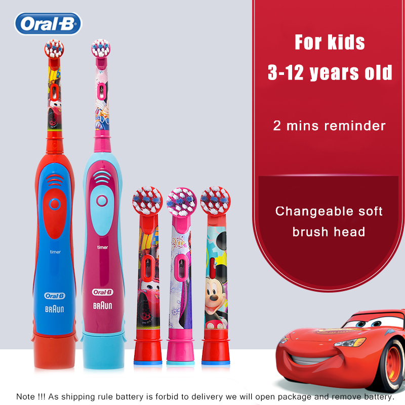 <font><b>Oral</b></font> <font><b>B</b></font> Children Electric Toothbrush Rechargeable Toothbrush 3C <font><b>Oral</b></font> Hygiene Deep Clean Waterproof for Kids Without AA <font><b>Battery</b></font> image