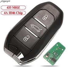 Jingyuqin – clé télécommande 433MHz, 4a, transpondeur id46-pcf7945, pour voiture citroën C4, C4L, DS4, DS5, Peugeot 308, 408, 508, 5008, 3B, HU83/VA2