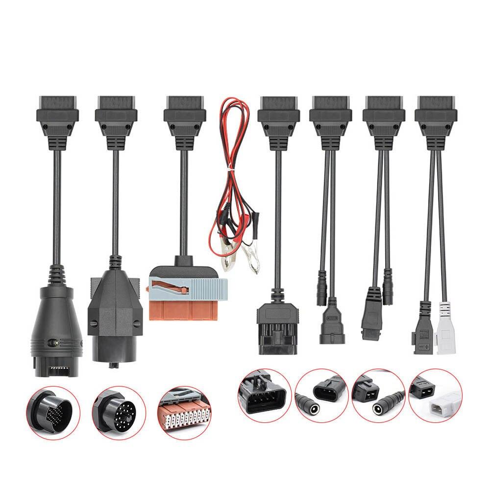 Full Set 8 PCS Diagnostic Connector OBD2 Extension Cable Auto Diagnostic Tools For Car Truck For BMW Opel