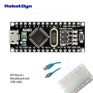 Image 3 - ננו CH340/ATmega328P MicroUSB, סיכות מולחם. תואם עבור Arduino Nano V3.0