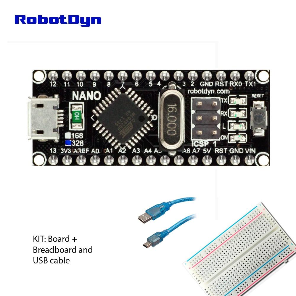 Nano ch340/atmega328p microusb, pinos soldados. Compatível para arduino nano v3.0