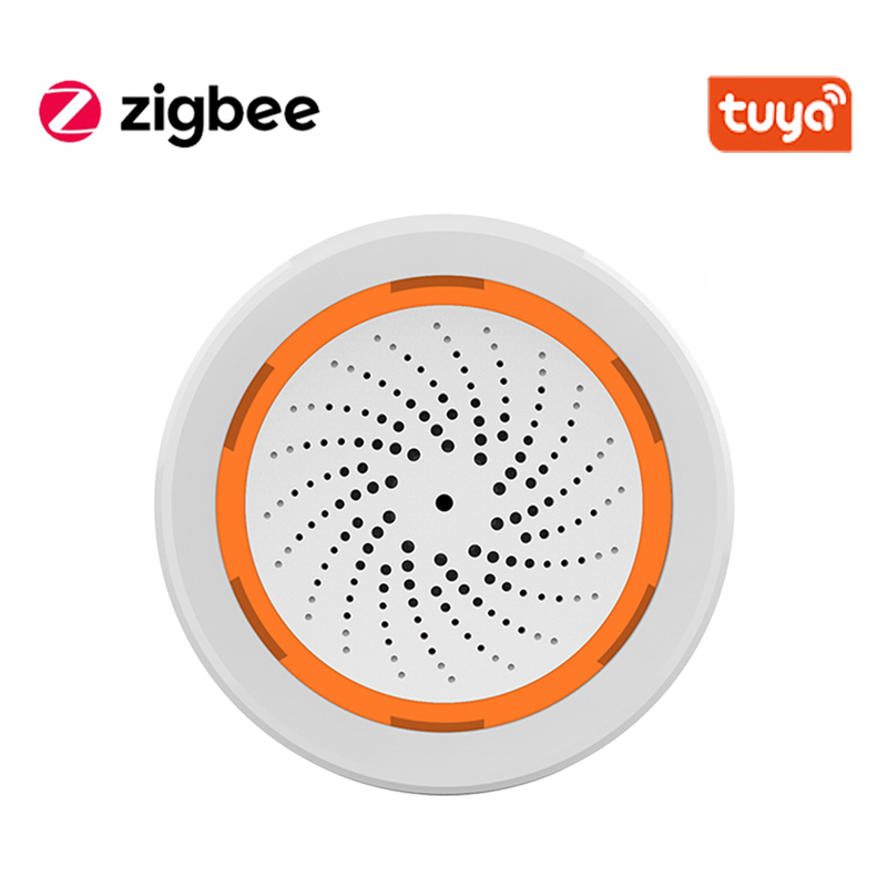 Tuya Smart Temperature And Humidity Alarm Built-In Battery 3 In 1 Zigbee Sensor, Can Be Used With TUYA Smart Hub