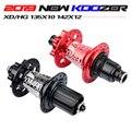 Новый Koozer концентраторы 4 подшипника MTB горный велосипед концентратора сзади 10*135 мм QR100 * 15 12*142 мм через 28/32/36 отверстиями дисковый тормоз вел...