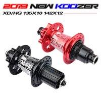 NEW Koozer Hubs 4 Bearing MTB Mountain Bike Hub Rear 10 * 135mm QR100 * 15 12 * 142mm Thru 28/32/36 Holes Disc Brake Bicycle Hub