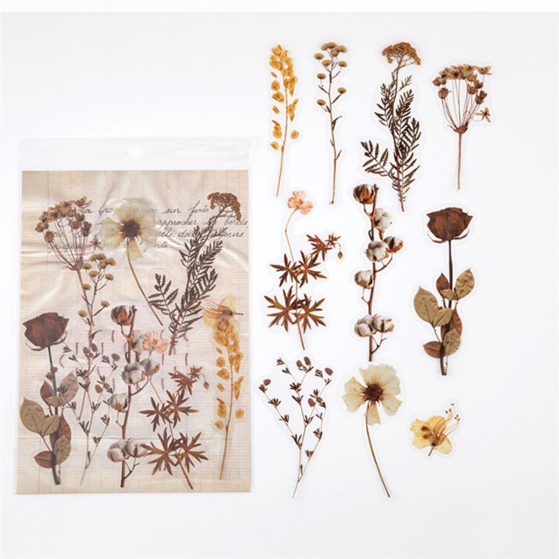 Flowers Leaves Plants PET Material Stickers For DIY Crystal UV Epoxy Resin Mold Plants Jewelry Making Decoration Handmade Crafts