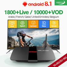Leadcool R1 Arabic France IPTV Box Android 8.1 RK3229 TV Receiver with QHDTV Subscription 1 year Belgium