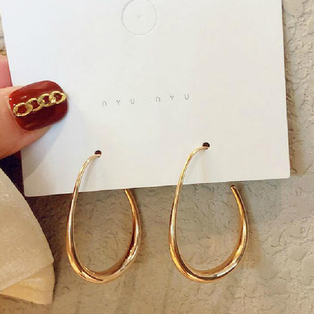 New Fashion Round Dangle Korean Drop Earrings for Women Geometric Round Heart Gold Earring 2020 Trend.jpg 640x640 - New Fashion Round Dangle Korean Drop Earrings for Women Geometric Round Heart Gold Earring 2020 Trend Wedding Jewelry