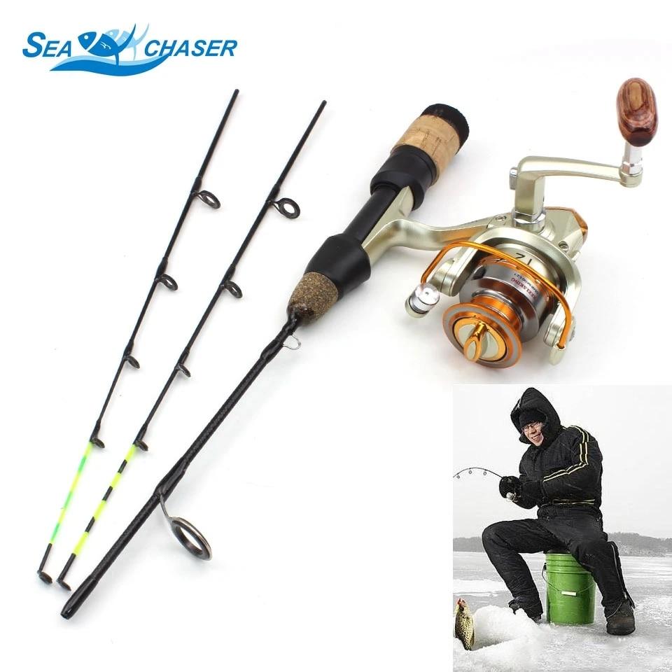 Carbon Fiber Ice Fishing Rod Portable Winter Fishing Rod Spinning Casting Pole