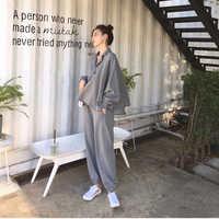 Autumn Women 2 Piece Set pants Suit Tracksuit Sweatshirts Casual Long Sleeve Solid Suit Tops+Pants Sporting Suit Female