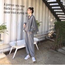 Conjunto feminino com 2 peças, vestimenta agasalho, casual, manga comprida, top + calça, traje esportivo
