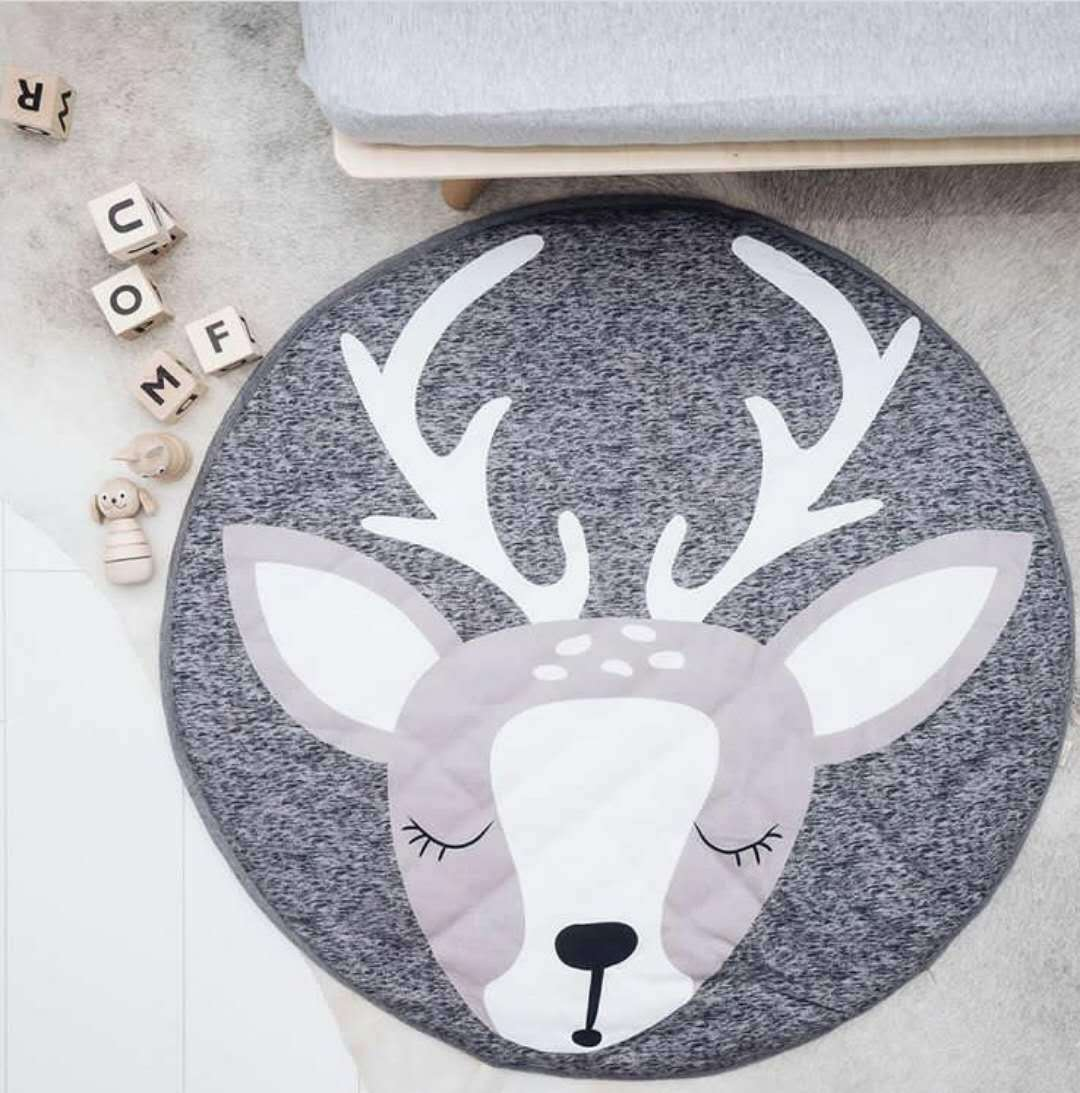 Ins Cartoon Animal Round Carpet Baby Play Mat Living Room Bedroom Mat Room Decor  Rugs and Carpets for Home Living Room|Carpet| |  - title=