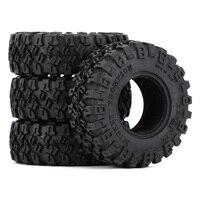 """INJORA 4PCS 1.0"""" All Terrain Soft Rubber Wheel Tires 52*17mm for 1/24 RC Crawler Car Axial SCX24 90081 AXI00001 Deadbolt 5"""