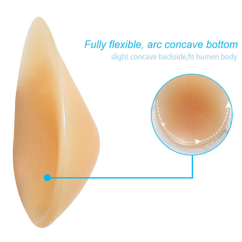 ONEFENG CT 뜨거운 판매 실리콘 가짜 유방 눈물 모양의 소프트 패드 전체 숙녀 가짜 가슴 170-300 그램/짝