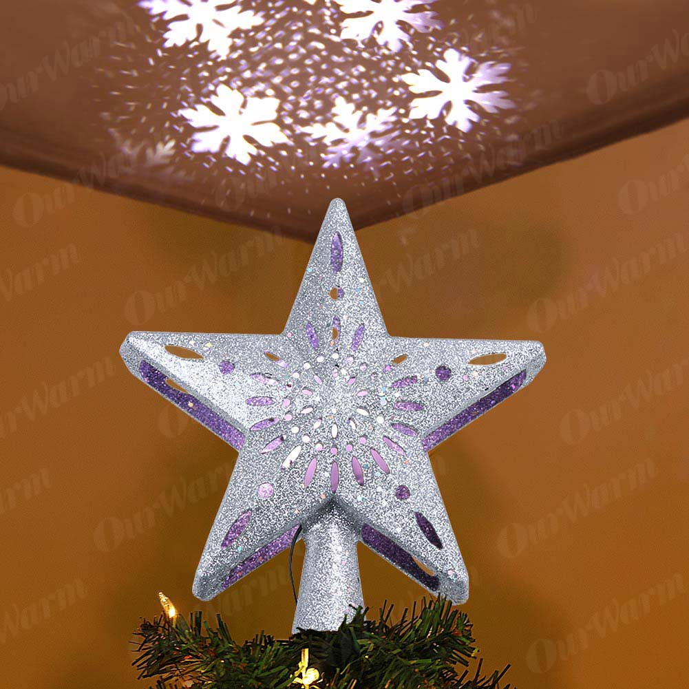 Projection Star Christmas Tree Topper 6