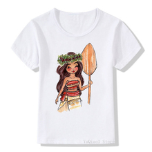 Watercolor moana/snow white princess printed tshirt summer kids clothing top girls clothes white t-shirt children camisetas new kids sweatshirt moana costume for girls new moana princess t shirt boys sweatshirts girls hoodies baby clothes kids t shirt