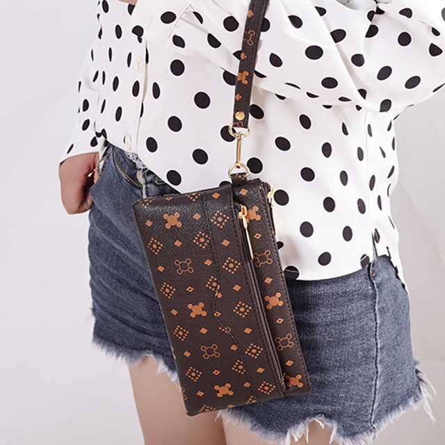 Long Wallet With Double Zipper
