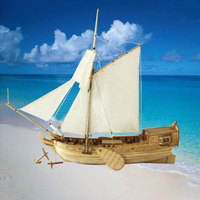 31CM Wooden Assembly Model Kits Classical Sailing Boat Dutch Royal Yacht Wooden Sailing Ship Kits DIY Collectible Decoration