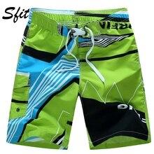 Sfit, мужские пляжные шорты, Летние плавки, мужские плавки, быстросохнущие, дышащие, свободные, с принтом, эластичные, повседневные, короткие размера плюс M-6XL