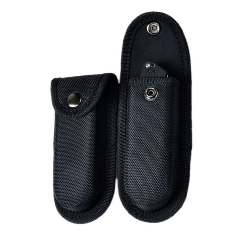 Folding Knife Cover Oxford Cloth Black Toolkit Sheath Belt Loop Mountaineering Outdoor Nylon Knife Cover Knife Sheath Cover