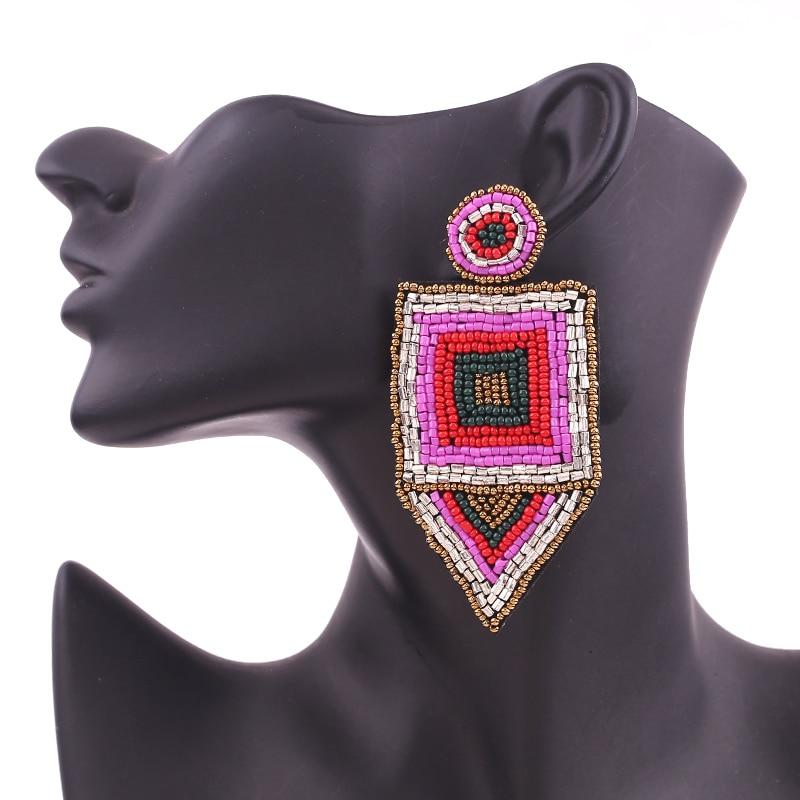 Bohemian Red Beads Tassel Earrings for Women Big Fringe Drop Earrings Long Dangle Earrings Wedding Jewelry Wholesale 6