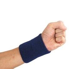 Для мужчин и женщин браслет Хлопок SweatBand тренажерный зал волейбол Теннис Запястье термообработка поддержка защита дышащая эластичная поддержка запястья