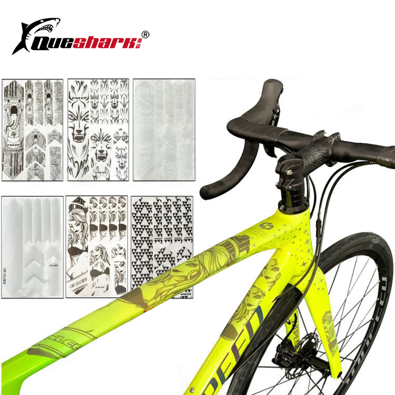 3D Road Mountain Bike Resistant Frame Protector Removable Sticker Guard Cover~JP