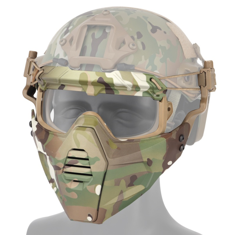Paintball Glasses with Detachable Mask for Airsoft//CS//Skiing//Snowmobile//Cycling//Halloween 1 PCS Balight Motorcycle Goggle Mask Tactical