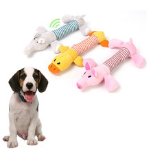 Jouet à mâcher couinement chien à mâcher jouets poupées sonores chat polaire animal de compagnie jouets en peluche drôles adaptés à tous les animaux de compagnie durabilité