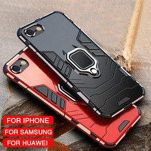 Caso À Prova de Choque Armadura de luxo Macio No Para O IPhone XR XS Max X Silicone Bumper Case Para Iphone 5 11 pro max 6 7 8 Além de Anel de Metal