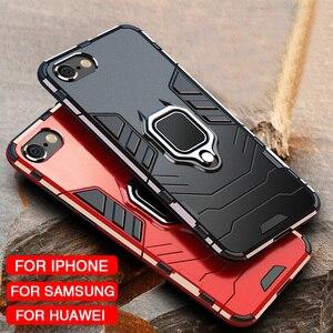 Image 1 - 高級防具ソフト耐震ケースに Iphone XR XS Max X シリコーンバンパーケース Iphone 11 プロ最大 6 7 8 プラス金属リング