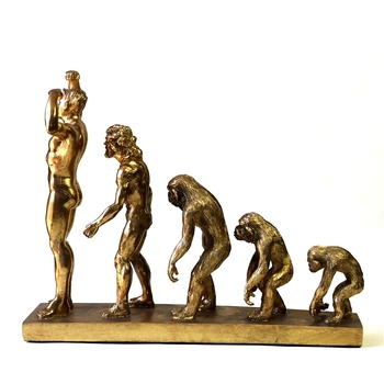 Human Evolution Sculpture Resin Anthropoid Statue Troglodyte Remote Times Museum Darwin History Ornament Decor Craft Accessories 4